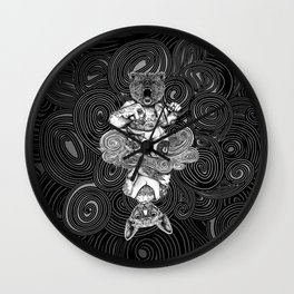 Grizzly and Sphynx Wall Clock
