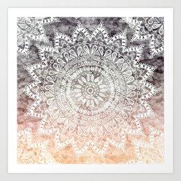 BOHEMIAN HYGGE MANDALA Art Print