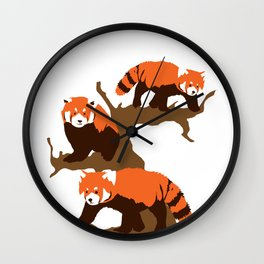 Red Panda Bear Giant Forest Tree Mammal Animal Gift Wall Clock