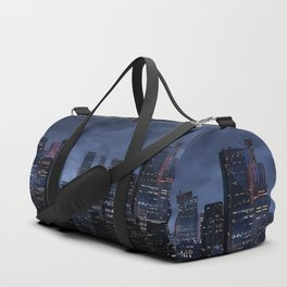Night city panorama Duffle Bag