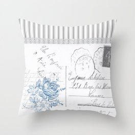 Lucienne in Grey Throw Pillow