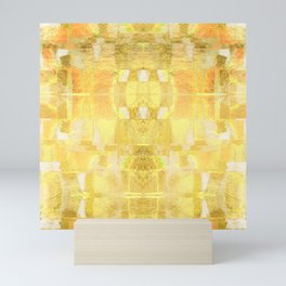 Babalon - Gold Metallic Soft Mid Century Pattern Mini Art Print
