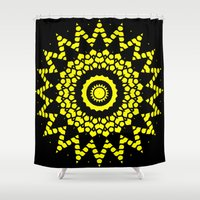 compass Shower Curtains featuring Compass by Mr. Pattern Man