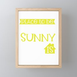 I Don't Like Summer My Favorite Place to Be on a Sunny Day is Indoors Framed Mini Art Print