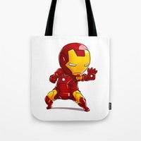 ironman Tote Bags featuring IRONMAN by MauroPeroni