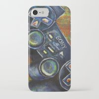 playstation iPhone & iPod Cases featuring Playstation  by Megan Bailey Gill