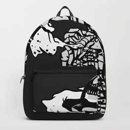 Military skeleton illustration - Soldier skull Backpack