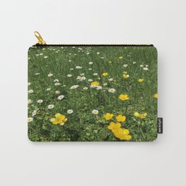 Yellow And White Daisies Carry-All Pouch