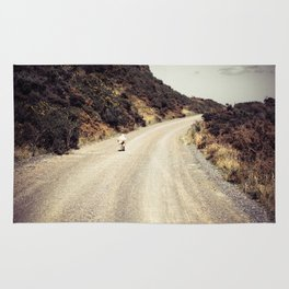 Sheep On A Gravel Road Rug