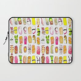 Sushi Watercolor-- Nigiri Sushi Laptop Sleeve
