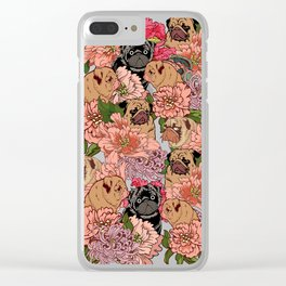 Because Pugs Clear iPhone Case