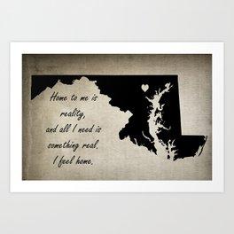 Home - Maryland Art Print
