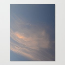A Sliver of Moon Canvas Print