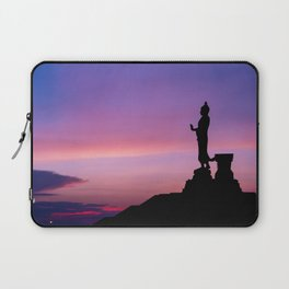 Silhouette of big statue of Buddha Laptop Sleeve