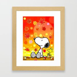 Snoopy saw the sunset Framed Art Print