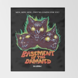 Basement Of The Damned Throw Blanket