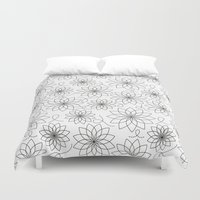 stark Duvet Covers featuring Stark Flowers by SonyaDeHart