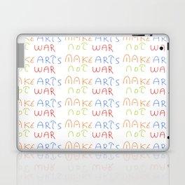 make art not war-anti-war,pacifist,pacifism,art,artist,arte,paz,humanities Laptop & iPad Skin