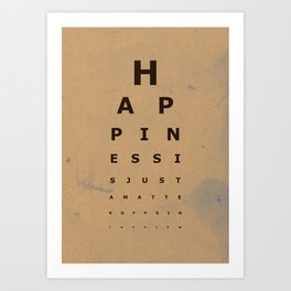 Happiness (2) Art Print