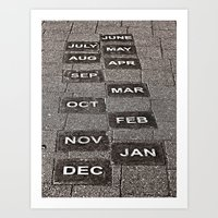 calendar Art Prints featuring Calendar Walk by Ethna Gillespie