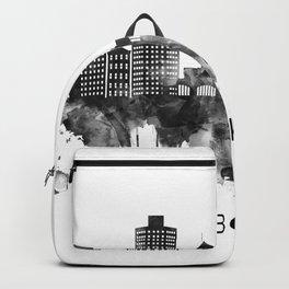 Hoboken New Jersey Skyline BW Backpack
