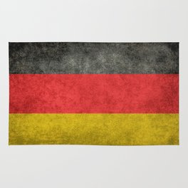 German National flag, Vintage retro patina Rug