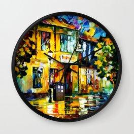 Tardis Art At The Garden Wall Clock