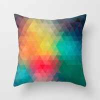 labyrinth Throw Pillows featuring Labyrinth by sophtunes