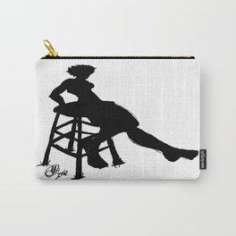 Painted Lady Silhouette Carry-All Pouch