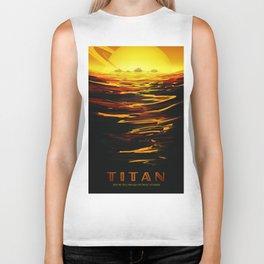 Titan : NASA Retro Solar System Travel Posters Biker Tank