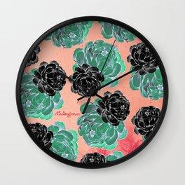 Patterns - Vintage Peonies Wall Clock