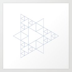 #377 Triangular architecture – Geometry Daily Art Print