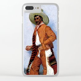 "Frederic Remington Western Art ""A Vaquero"" Clear iPhone Case"