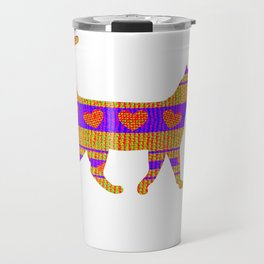 Heart Sweater Cat Travel Mug