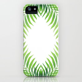 Palm Circle, Letter O, Zero iPhone Case