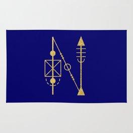 Sacred Geometry Letter N Rug