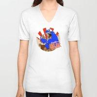 kaiju V-neck T-shirts featuring Kookie Kaiju by Joel Jackson