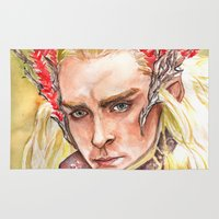 thranduil Area & Throw Rugs featuring Thranduil by Giulia Colombo