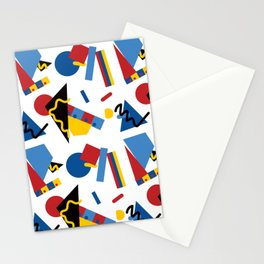Postmodern Primary Color Party Decorations Stationery Cards