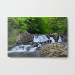 Marble Bathtub Falls Metal Print