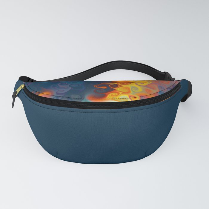 SMILE a cornucopia of colour dancing in flames Fanny Pack