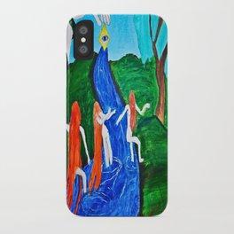 Adam and Eve in Wonder Land  iPhone Case