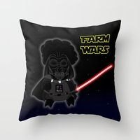 darth Throw Pillows featuring Darth by Afro Pig