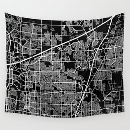 plano map texas Wall Tapestry