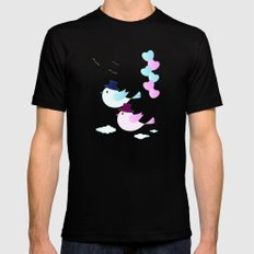 Happy Together MEDIUM Black Mens Fitted Tee