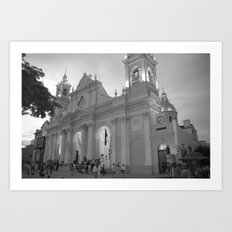 mexico church Art Print