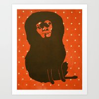 Self Portrait no. 1 (polka dots) Art Print