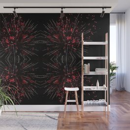 Blooming Red | Fireworks Wall Mural
