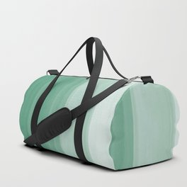 Touching Green Watercolor Abstract #1 #painting #decor #art #society6 Duffle Bag