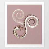 Mauve Serpent Art Print